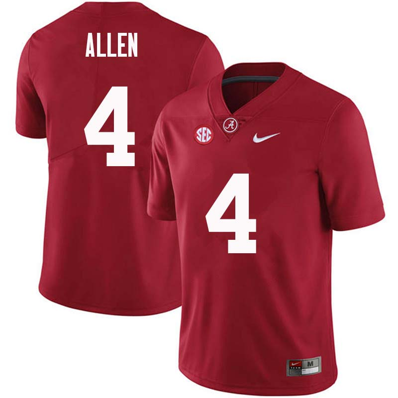 Men #4 Christopher Allen Alabama Crimson Tide College Football Jerseys Sale-Crimson